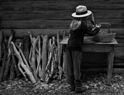Preparando la cabaña