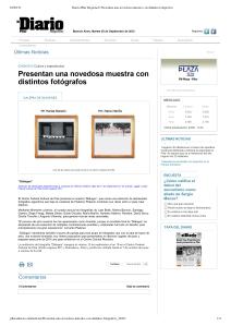 Diario Pilar Regional _ Presentan una novedosa muestra con distintos fotógrafos-1