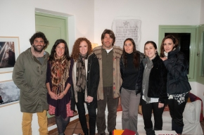 Junto a Lucio Boschi y su colaboradora Mechi.